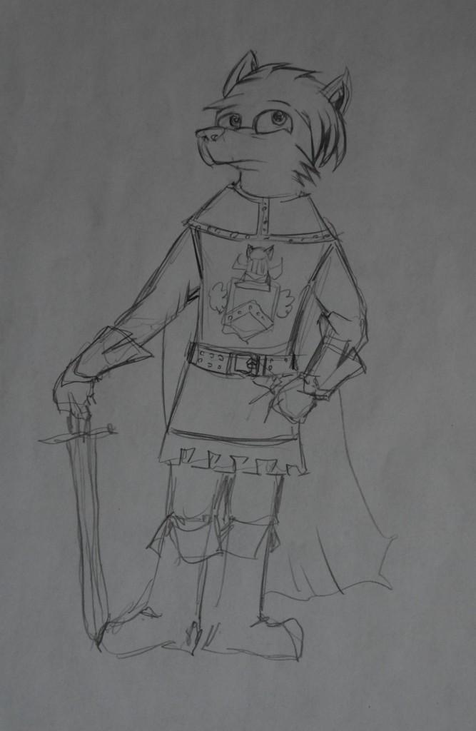 Anthropomorphic Fox Knight by Jarredspekter