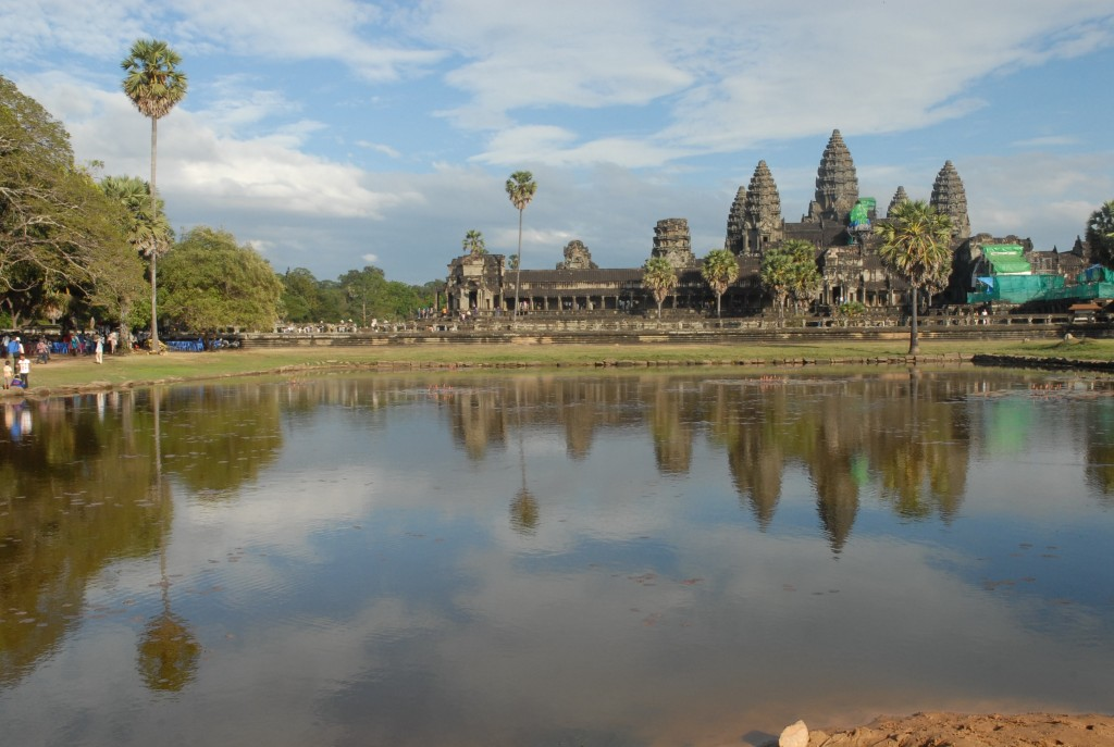 Angkor Wat with reflection