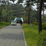 Stairs to Haneul park